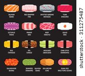 sushi set icon  vector | Shutterstock .eps vector #311275487