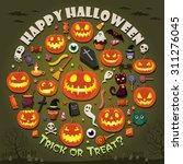 vintage halloween poster design ... | Shutterstock .eps vector #311276045