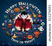 vintage halloween poster design ... | Shutterstock .eps vector #311276051