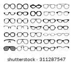 vector set of different glasses ... | Shutterstock .eps vector #311287547