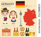 traveling europe   germany flat ... | Shutterstock .eps vector #311288831