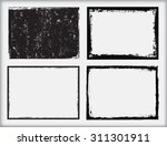 grunge frame.grunge background... | Shutterstock .eps vector #311301911