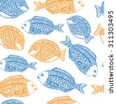 marine seamless pattern with... | Shutterstock .eps vector #311303495