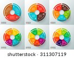 vector circles with arrows for... | Shutterstock .eps vector #311307119