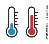 thermometer icon set | Shutterstock .eps vector #311307137
