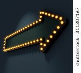 signboard pointer with glowing... | Shutterstock . vector #311307167