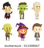 halloween characters | Shutterstock .eps vector #311308067