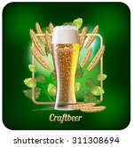 beer ads. vector background for ... | Shutterstock .eps vector #311308694