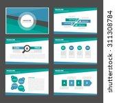 blue and green multipurpose... | Shutterstock .eps vector #311308784