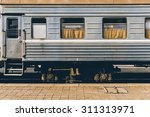 mongolian vintage train | Shutterstock . vector #311313971