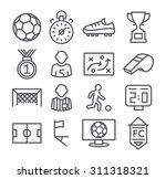 soccer line icons | Shutterstock .eps vector #311318321