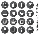 bathroom icons set | Shutterstock .eps vector #311322314
