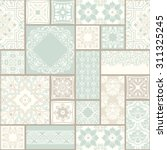 seamless  patchwork tile with... | Shutterstock .eps vector #311325245