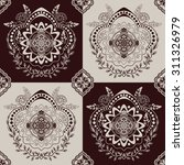 monochrome seamless pattern | Shutterstock .eps vector #311326979