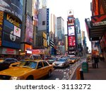 the times square in new york...   Shutterstock . vector #3113272