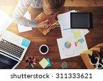 young female entrepreneur... | Shutterstock . vector #311333621