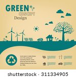 go green concept. save the... | Shutterstock .eps vector #311334905