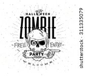 halloween party poster with... | Shutterstock .eps vector #311335079