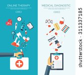 medical flat vector background... | Shutterstock .eps vector #311337185