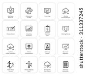 business   money icons set.... | Shutterstock .eps vector #311337245