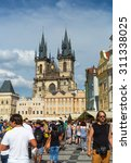 old town square in prague czech ... | Shutterstock . vector #311338025