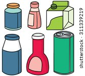 vector set of packaging | Shutterstock .eps vector #311339219