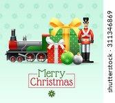 christmas vintage realistic... | Shutterstock .eps vector #311346869