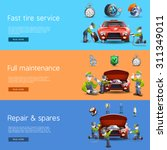 auto mechanic full service... | Shutterstock .eps vector #311349011