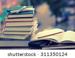 pen pencil study textbooks | Shutterstock . vector #311350124