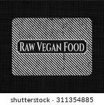 raw vegan food chalk emblem | Shutterstock .eps vector #311354885