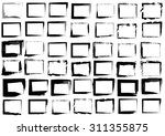 great set of black square... | Shutterstock .eps vector #311355875