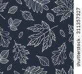 autumn seamless pattern. fall... | Shutterstock .eps vector #311357327