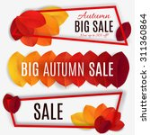 big autumn sale. fall sale... | Shutterstock .eps vector #311360864