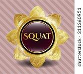 squat gold badge   Shutterstock .eps vector #311360951