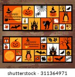 halloween icons set. vector... | Shutterstock .eps vector #311364971