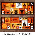 halloween icons set. vector... | Shutterstock .eps vector #311364971