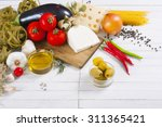 mediterranean food ingredients... | Shutterstock . vector #311365421