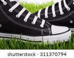 couple youth sneakers  black... | Shutterstock . vector #311370794