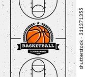 basketball logo with the ball.... | Shutterstock .eps vector #311371355