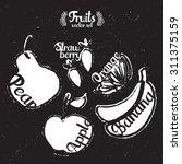 fruits. vector set | Shutterstock .eps vector #311375159