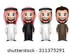 3d realistic saudi arab man...