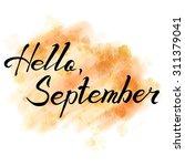 hello september. hand drawn... | Shutterstock .eps vector #311379041