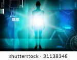 digital illustration of human... | Shutterstock . vector #31138348