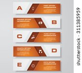design clean number banners... | Shutterstock .eps vector #311385959