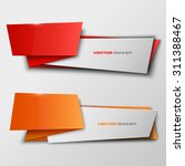 origami paper infographic... | Shutterstock .eps vector #311388467