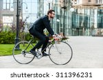 Going Everywhere By His Bike....