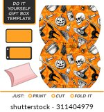 favor  gift box die cut. box... | Shutterstock .eps vector #311404979