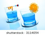 "two glasses of cocktail ""blue... 