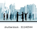business people.  all elements... | Shutterstock .eps vector #31140544