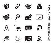 vector black seo and internet... | Shutterstock .eps vector #311407181